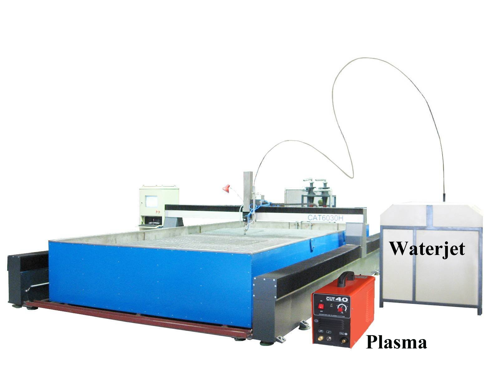 waterjet and plasma together